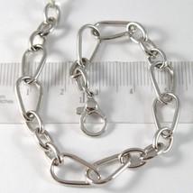 Weißgoldarmband 750 18K mit Cakemelts und Oval, Länge 19 cm Verstellbar image 1