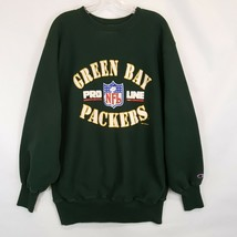 Vtg Champion Green Bay Packers Reverse Weave Sweatshirt 2XL XXL NFL Pro ... - $43.55