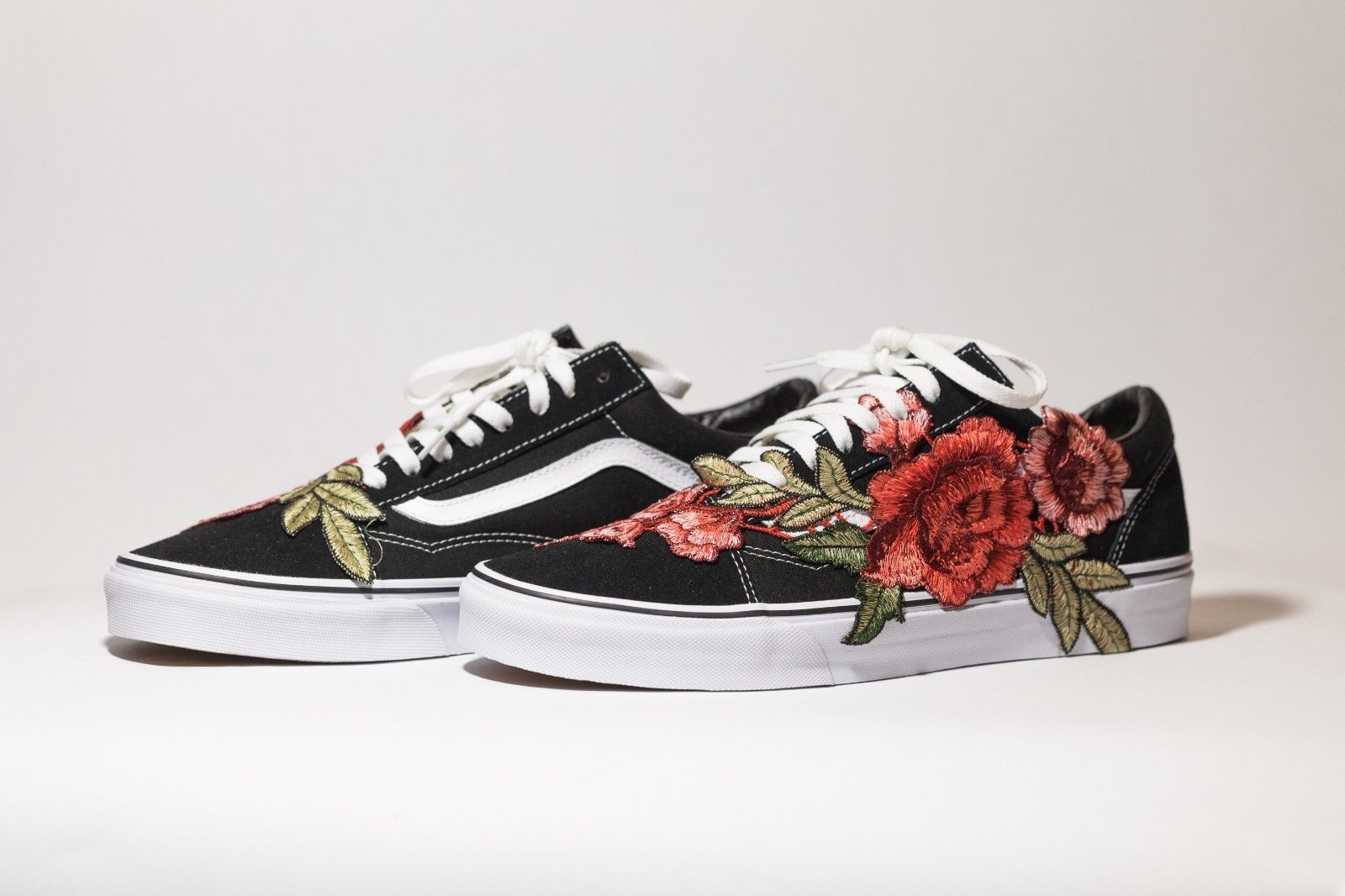 VANS SK8-LOW Original Custom 'Rose Bush' Premium Edition available in all sizes