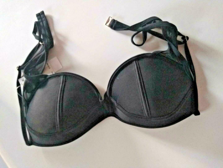 Hula Honey Black Push Up Swimwear Top Size XL