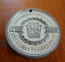 Antique Medal 1888 Alleghany Co. PA New Court House 33mm - $40.00