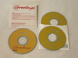 Microsoft Greetings V 2002 CD-ROMs PC Computer Software - $19.99