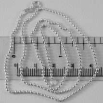 SOLID 18K WHITE GOLD CHAIN WITH BALLS, BALL, SPHERES, NECKLACE, MADE IN ITALY image 1