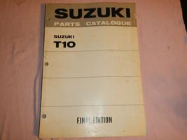 Suzuki T10 T 10 Final Edition Parts Catalog Shop Service Repair Manual - $94.03