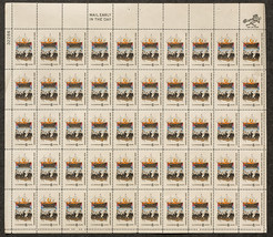 1620 The Landing of the Pilgrims, Sheet of 6 cent stamps, 50 stamps - $7.50