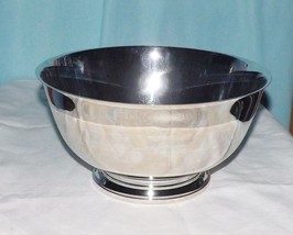 "Oneida Sliversmiths Paul Revere Reproduction Sliver Plated 10"" footed Bowl - $6.37"