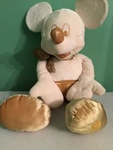 """Disney Store 24"""" Mickey Mouse Cream Gold Plush Collectible - $19.79"""