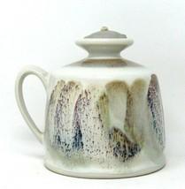 Kravec Studios Art Pottery OIL LAMP Jug With Handle  Earth Tone Glaze HA... - $24.26