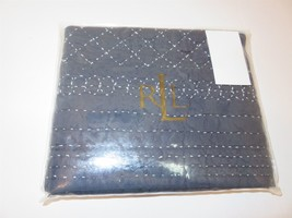 1 Ralph Lauren Talmadge Hill Quilted Blue Calico Sham New - $53.30