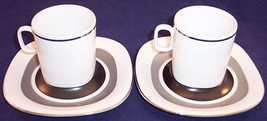2 Block Langenthal Switzerland Transition Interaction Flat Cup & Saucer ... - $19.99