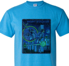 Night Stalker T shirt retro 80's 70's old school video game heather blue tee image 2