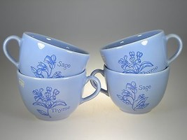 Royal Worcester Herb Garden Blue Breakfast Cups Set of 4 NEW WITH TAG - $37.36