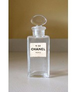 Old Chanel No. 22 Perfume Bottle~Glass Stopper~Collectible~Excellent Con... - $59.99
