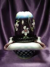 Fenton Heirloom Optics Nancy Fenton Purple Glass Art Fairy Light Hand Pa... - $148.50