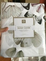 Pottery Barn Teen Monarch Butterfly Duvet Cover Queen Neutral Ivory No S... - $55.89