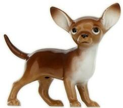 Hagen Renaker Dog Chihuahua Small Brown and White Ceramic Figurine