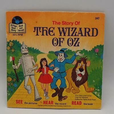 Vintage Walt Disney's The Wizard of Oz Book & Record 33 1/3 RPM Record 7""