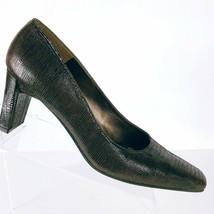 Stuart Weitzman Women's Brown Patent Leather Suede Leather Lizard Print Pump 9AA - $29.70