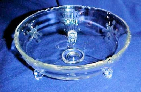 Primary image for Imperial Glass Small Serving Bowl, Relish Dish, 3 Legs