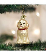 OLD WORLD CHRISTMAS COCKAPOO PUPPY GLASS CHRISTMAS ORNAMENT 12440 - $10.88