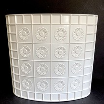 Bathroom Trash Can White Lucite Plastic Vtg Starburst Mid Century Waste ... - $39.59