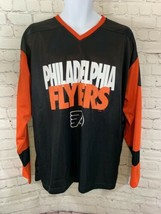 Unisex NHL Philadelphia Flyers Long Sleeve Black & Orange Shirt Sz L V-neck - $10.40