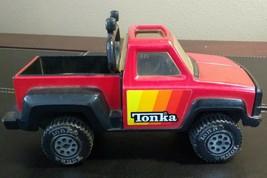 L@@K VINTAGE 1979 TONKA PICKUP TRUCK, ROLL BAR, BAJA LIGHTS, RED and BLACK - $24.95