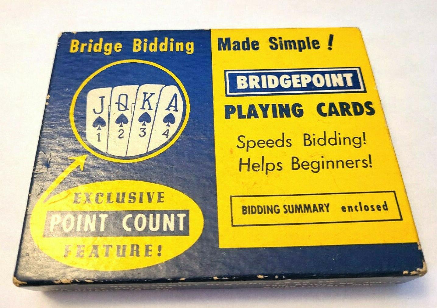 Bridge Bidding BridgePoint Double Deck Playing Cards