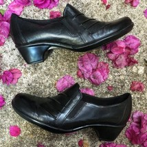 Clarks Black Pleated Leather Partridge Shoe 9.5M $90 - $30.00
