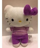 "Fiesta Hello Kitty Plush Stuffed Toy Purple White 13"" 2012 - $7.69"
