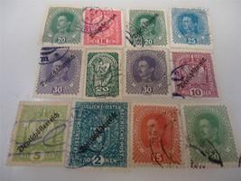 Lot of 12 Vintage 1917-1919 Austrian Stamps - $33.51