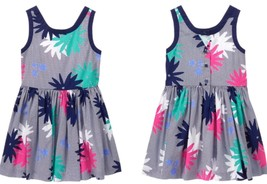 NWT Gymboree Shore to Love Floral Dress Navy Blue Pink Size 6 7 8 - $22.99