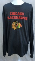 Chicago Blackhawks Long Sleeve Shirt Adult XL NHL Officially Licensed Polyester - $18.74