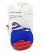 NWT Peter Millar Wicking Low Show Golf Tab Socks sz 8-13 Red Blue White ... - $14.85