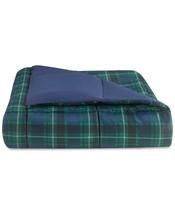Essentials by Martha Stewart Collection Reversible Navy Plaid Twin/XL Comforter - $48.38