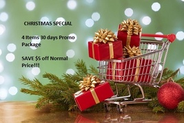CHRISTMAS SPECIAL PROMO PACKAGE - $10.00