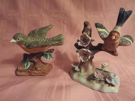 2 - Porcelain bird figurines including Ardalt Goldfinch 6356 Japan - $21.95