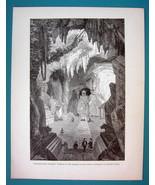 COCHIN CHINA Touran Subterranean Buddhist Temple - 1866 Antique Print  - $16.20