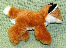 "AURORA WORLD MINI FLOPSIES 6"" FOX BEANBAG STUFFED ANIMAL PLUSH TAN WHITE... - $5.00"