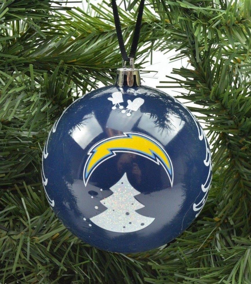 "San Diego Chargers Christmas: San Diego Chargers NFL Football 3"" Plastic Christmas"