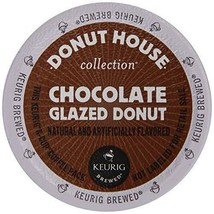 Donut House Chocolate Glazed Donut Coffee K cups Pick Any Size FREE SHIP... - $21.99+