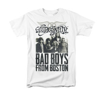 Aerosmith T-shirt Bad Boys Boston retro 80's 90s classic rock 100% cotton tee image 2