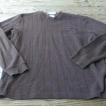 Columbia Mens Sweatshirt Sz L Brown  Long Sleeve Crew Neck Logo - $15.74