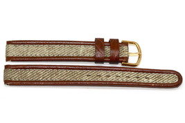 12MM Brown Tan Stitched Waterproof Watch Band Strap - $9.89