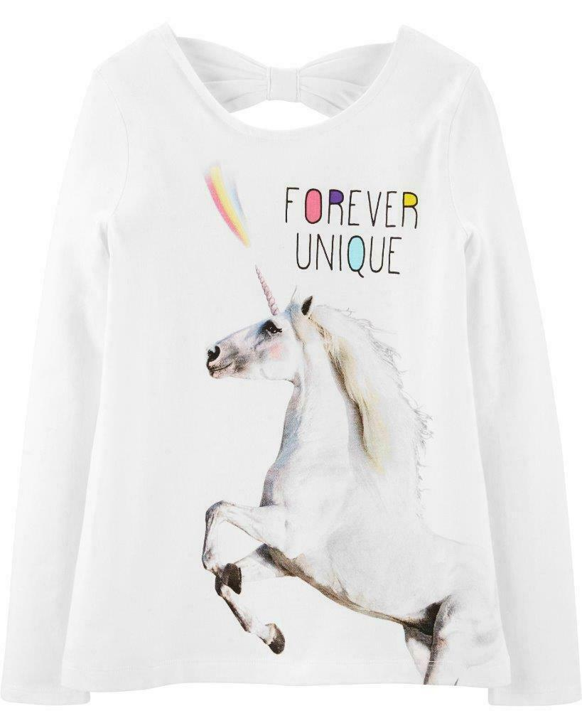 Carter 's NWT Size 12  Unicorn Bow Back Jersey Tee - $15.99