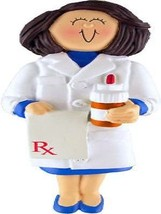PERSONALIZED NAME FEMALE PHARMACIST CHRISTMAS GIFT ORNAMENT WE CAN CUSTO... - $11.67