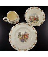 Vtg Royal Doulton Peter Rabbit Bunnykins Children's Set Porridge Bowl Mu... - $28.70