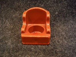 Vintage Fisher Price Little People Arm Chair / Wing Chair Brown - $1.08
