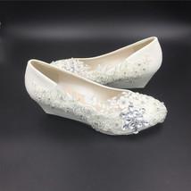 Women Wedding Wedges Shoes/Ladies Bridal Wedges Shoes,Wedding Low Heels Wedges image 6