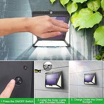 Solar Lights Outdoor, Mitaohoh 82 LEDs Wireless Waterproof Solar Motion Sensor L image 6